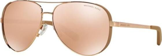 Michael Kors Chelsea Rose Gold Aviator Sunglasses - mk5004