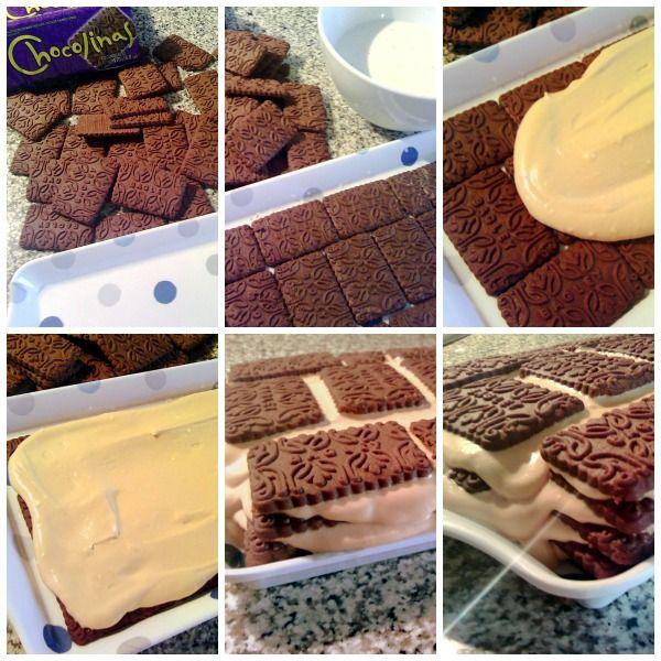 Chocotorta {Tarta argentina de chocolinas y crema de dulce de leche}