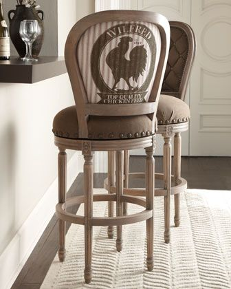 Rooster Barstool by French Laundry Home at Horchow Now that Ive seen