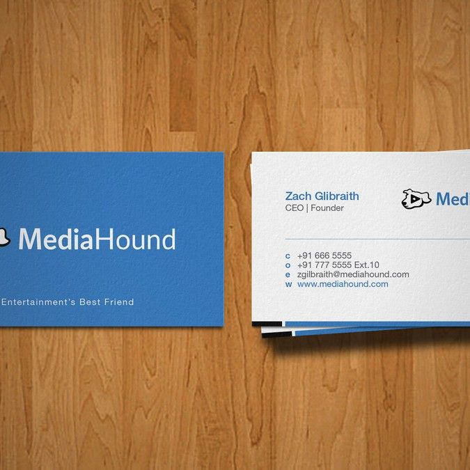 1384 best logos images on pinterest business cards carte de mediahoun business card for entertainment technology startup by shanina colourmoves Choice Image