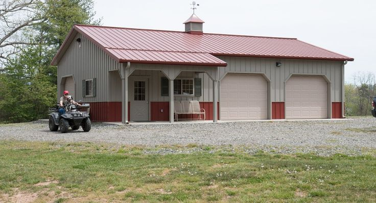 25 b sta pole barn packages id erna p pinterest for Garage packages nc