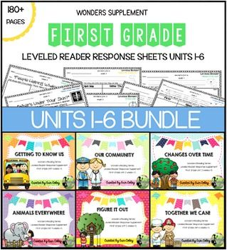 First Grade Leveled Reader Response Bundle: McGraw-Hill Wo