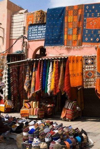 Carpet Market in Marrakech, Morocco