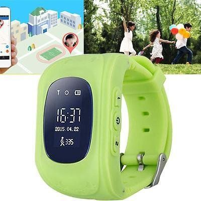 "Monitor Children GPS Tracking Device SIM Q50 Smart Watch Safety Tracker Kid (Green)   Kindly Note: 1. Your need buy a SIM Card separately and open Data&Voice plan before use the watch, works only with open ""Pre-paid"" plan wi"