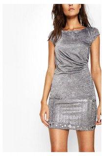 Desigual šedé třpytivé šaty Mihaela - 2699 Kč