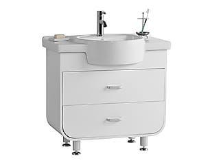 Set de lavabo y armario bajolavabo Ocean - blanco