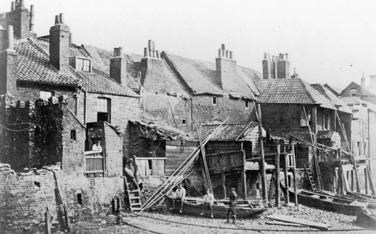A row of houses on the south bank of the Thames at Lambeth, circa 1850. Picture: GETTY  Fascinating early photographs of London
