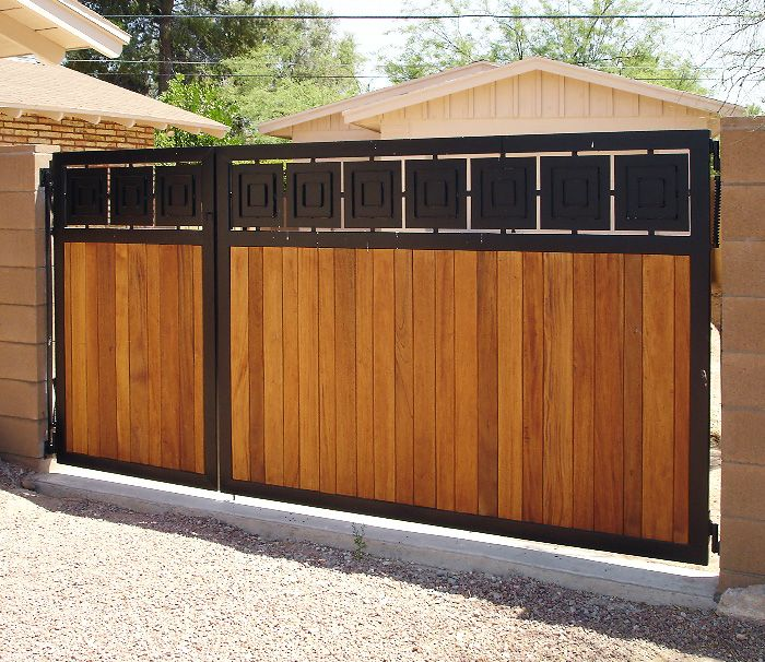 Custom metal wood gate cdf llc main gate ideas for Wooden main gate design