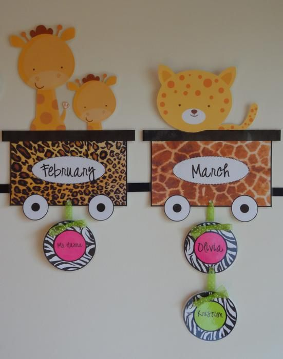 Safari Jungle Theme Birthday Bulletin Board Idea