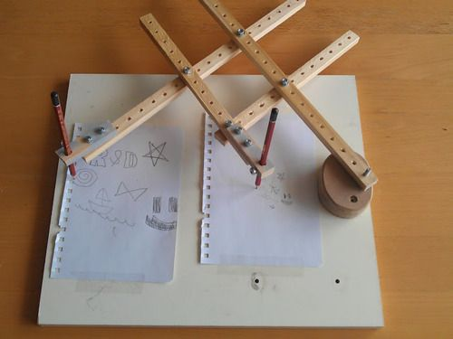 Home Made Pantograph Reducer or Enlarger of drawings.