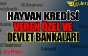 Hayvan kredisi veren bankalar