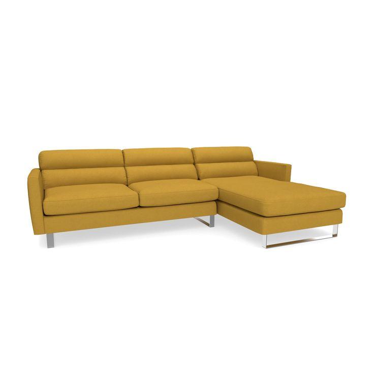 Savannah Eco-Friendly 2pc Sectional Sofa  sc 1 st  Pinterest : yellow sectional sofa - Sectionals, Sofas & Couches