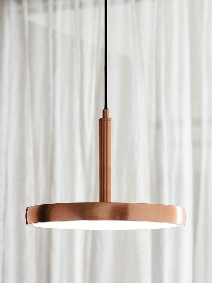 LEDlux Bennett 300mm Dimmable LED Pendant in Copper Finish | Modern Pendants | Pendant Lights | Lighting