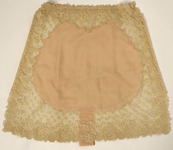 Underpants Date: 1929 Culture: American or European Medium: cotton, silk Accession Number: 1976.198.23