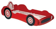 Racing car bed for your boy racer; or girl racer of course http://www.onlinebedshop.co.uk/children.htm