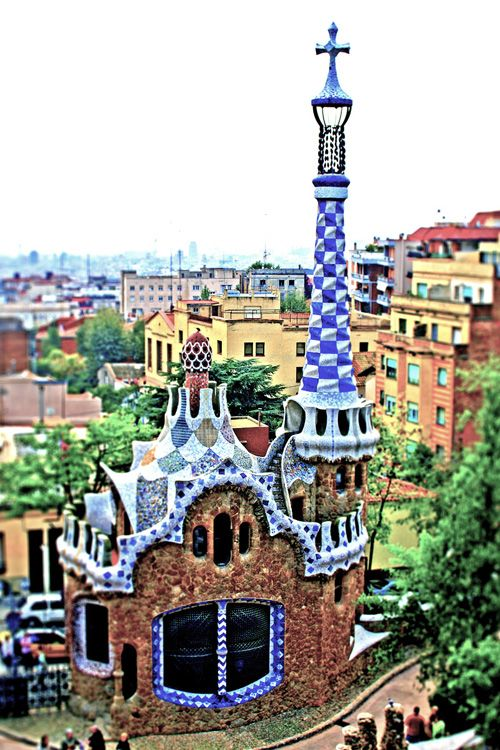 Antoni gaudi park guell architecture pinterest for Architecture gaudi