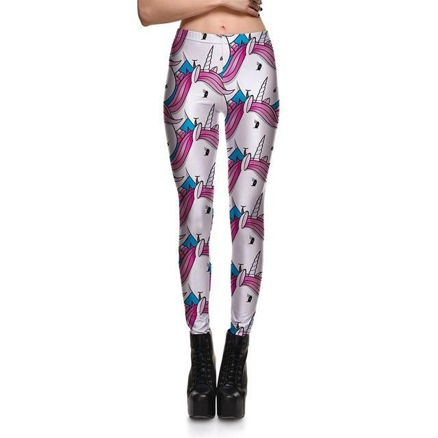 New 3856 Sexy Girl Pencil Pants Colorful Donut Bread Doughnut Printed Elastic Slim Fitness Workout Women Leggings Plus Size