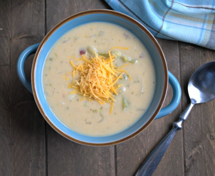 Health Broccoli Cheese Soup is warm and comforting, but light on the calories.