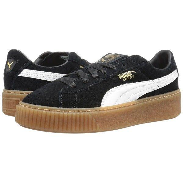 puma shoes suede black. puma suede platform core (puma black/puma white) women\u0027s shoes ($100) puma black