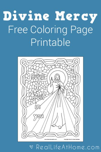 divine mercy coloring page free printable - Catholic Coloring Pages Printable