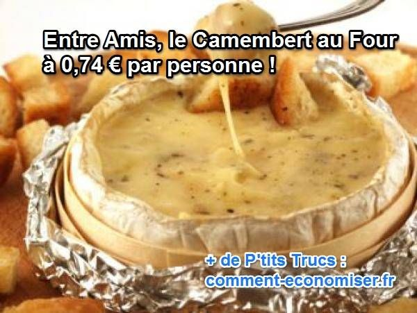 Pas besoin d'être un chef étoilé pour réussir cette recette, elle se prépare en un tour de main et son succès est garanti !  Découvrez l'astuce ici : http://www.comment-economiser.fr/camembert-four.html?utm_content=buffer83f48&utm_medium=social&utm_source=pinterest.com&utm_campaign=buffer