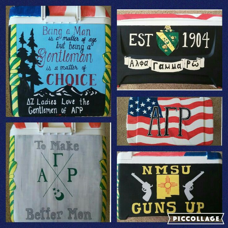 Cooler for Alpha Gamma Rho, NMSU