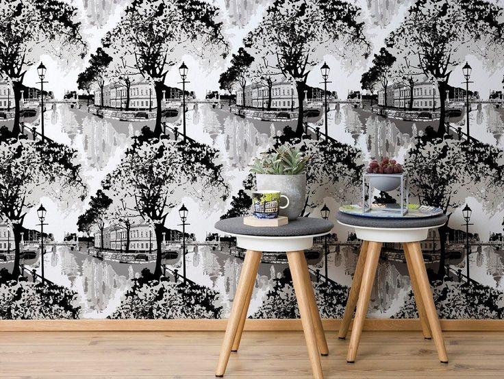 Foyer Wallpaper Nz : Ideas about grey wallpaper on pinterest stripe