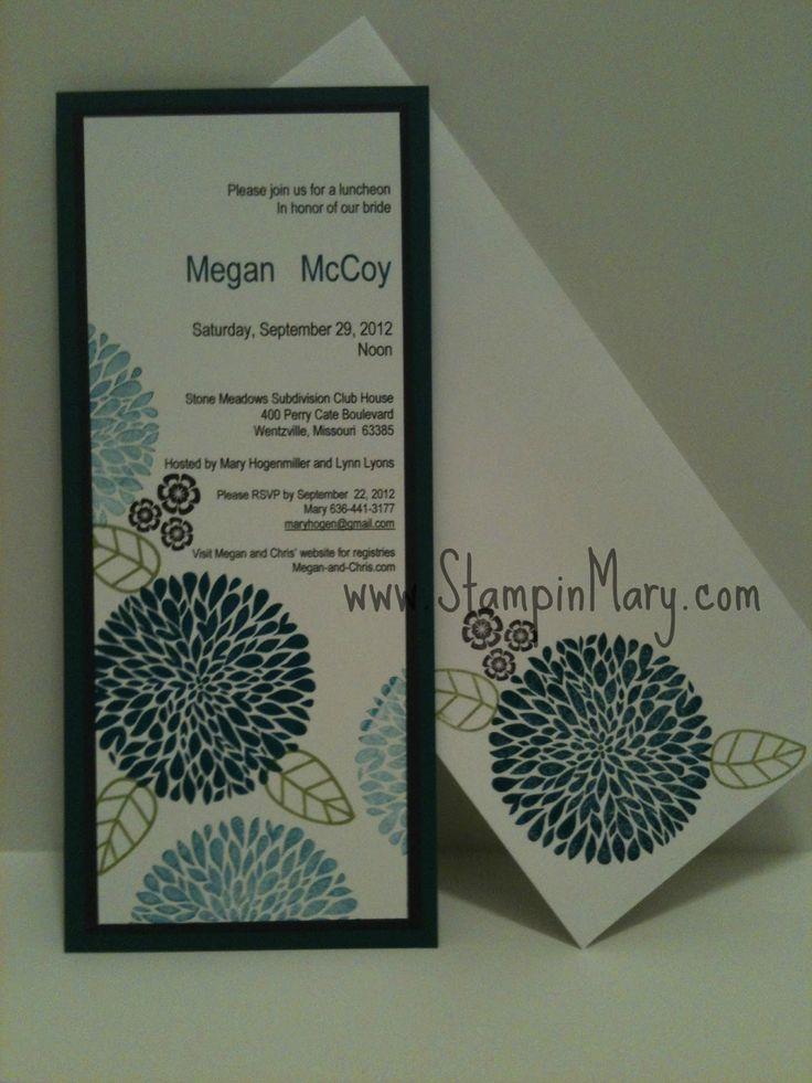 stampin up wedding invitations gallery | Betsy's Blossom Shower invitation