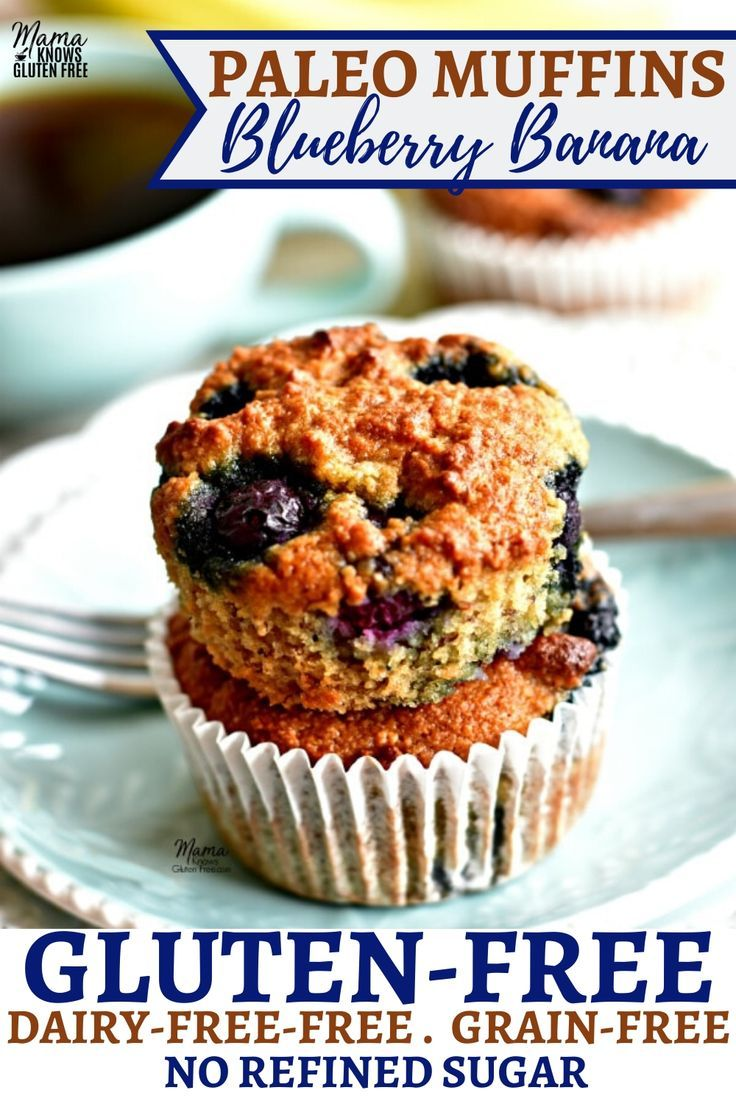 An Easy Recipe For Paleo Blueberry Banana Muffins Grain Free