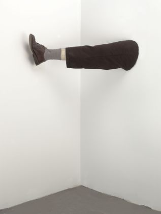 Robert Gober is an American sculptor. His work is often related to domestic and familiar objects such as sinks, doors, and legs. Wikipedia
