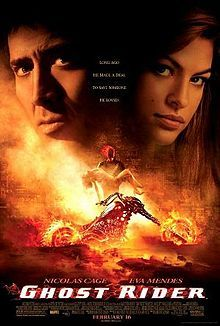 Ghost Rider is a 2007 American superhero horror film written and directed by Mark Steven Johnson, the director of Daredevil. Based on the character of the same name which appeared in Marvel Comics, the film stars Nicolas Cage as Johnny Blaze, a stunt motorcyclist who sells his soul to the Devil and transforms into the vigilante Ghost Rider.