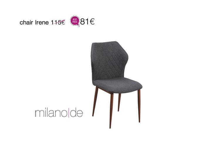 Κάπου ανάμεσα στο #μοντέρνο & το μπαρόκ, η #καρέκλα Irene θα σας εντυπωσιάσει με την #άνεσή της και τις κομψές καρό ραφές της.   https://www.milanode.gr/product/gr/2624/karekla_irene.html