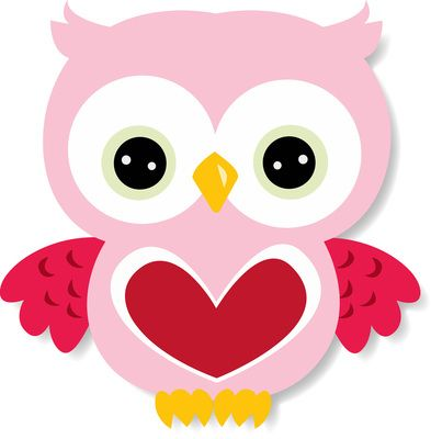 Cherry Clipart-Valentine Owl