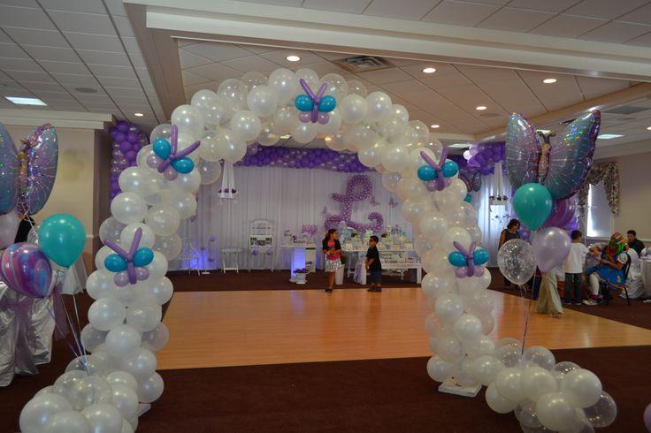 Butterflies balloon arch arches pinterest