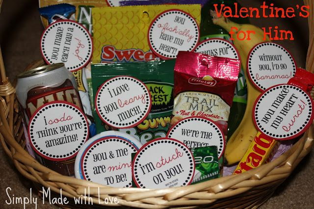 Simply Made...with Love: Valentine's for Him & Free Printable