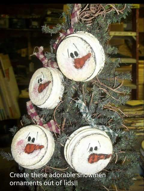 Snowman ornament, could also make gingerbread men