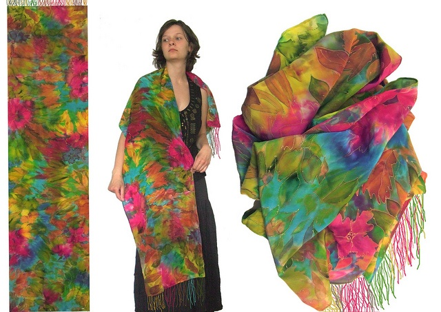 hand painted silk scarf 11
