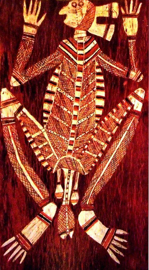 Figura muy original del arte aborigen australiano.