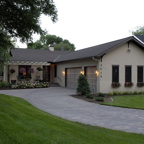 135 best images about home outdoor spaces on pinterest for 50s ranch exterior remodel