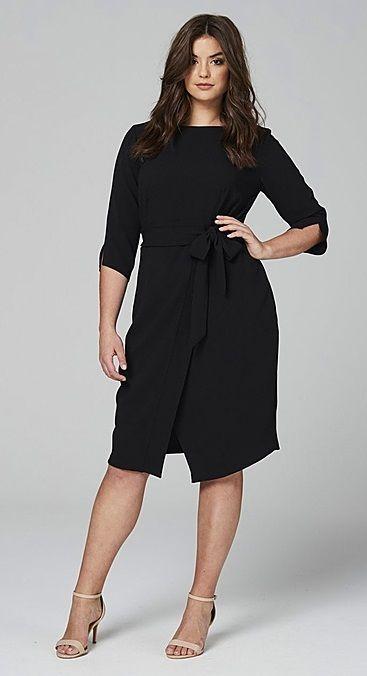 Plus Size Wrap Front Dress https://bellanblue.com