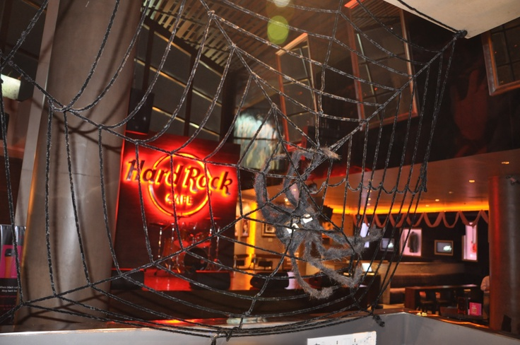 A tangled web we weaved for a spooky Halloween eve at  Hard Rock Café Hyderabad.