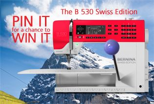 This great BERNINA 530 Swiss Edition can be yours! Choose your favorite B 530 SE image and pin it with a chance to win this new addition to the BERNINA family.