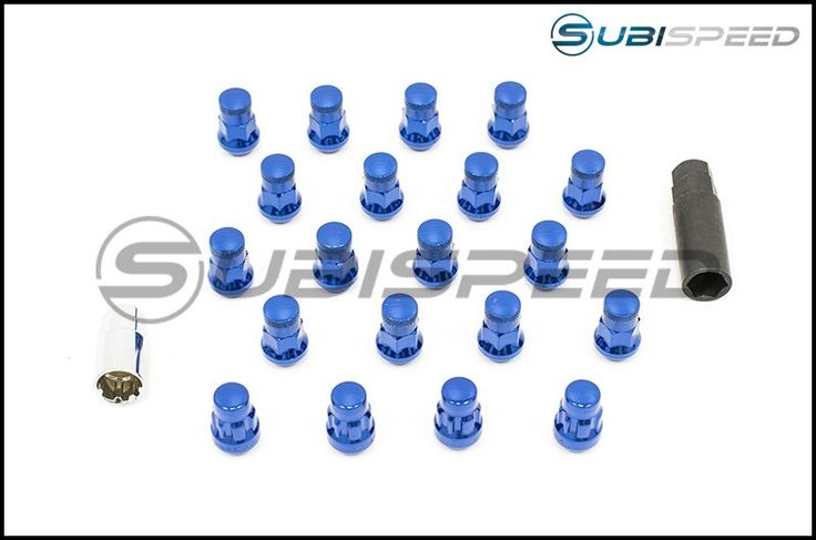 Muteki SR35 Closed Ended Lugs w/ Lock Set - 2015+ WRX / 2015+ STI / 2013+ BRZ-Blue