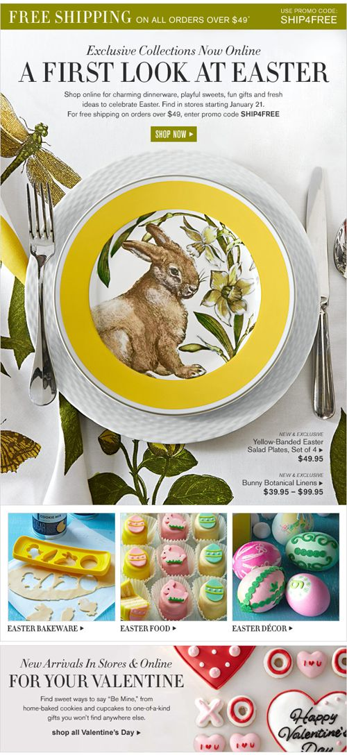 25 best easter newsletters images on pinterest email newsletter 22 excellent ecommerce email templates examples to inspire your next campaign mailbakery negle Image collections