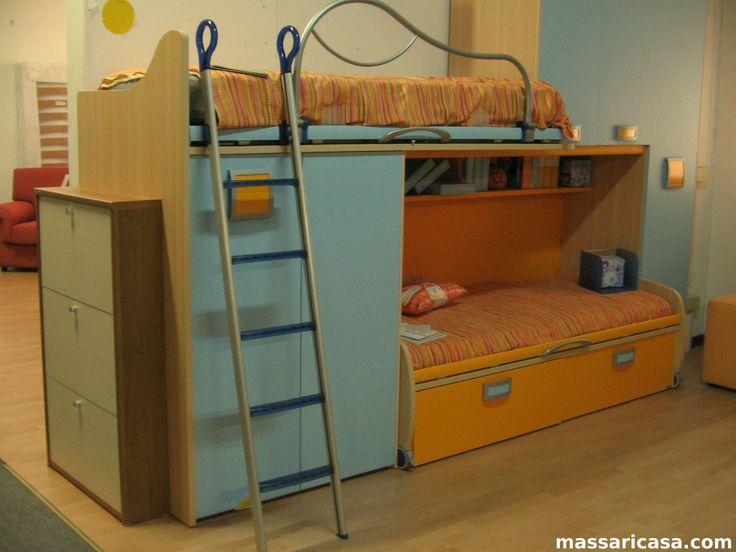 Cameretta bambino arancione e azzurro massaricasa.com