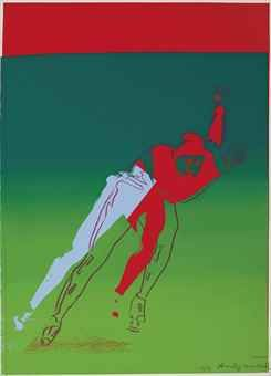 ANDY WARHOL  Speed Skater, from Arts and Sports  screenprint in colors, 1983, on Arches 88 paper