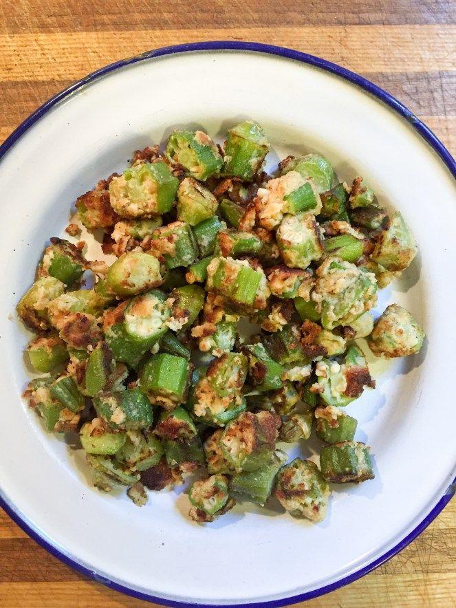 Southern Fried Okra {THM-S, Low Carb, Gluten Free} - My Montana Kitchen