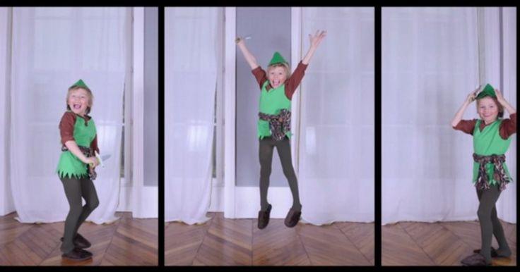 Voici pas à pas et par étapes, un tutoriel pour réaliser le costume de Peter Pan pour votre enfant.