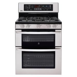 30 in. Self-Cleaning Freestanding Double Oven Gas Convection Range in Stainless Steel-LDG3017ST