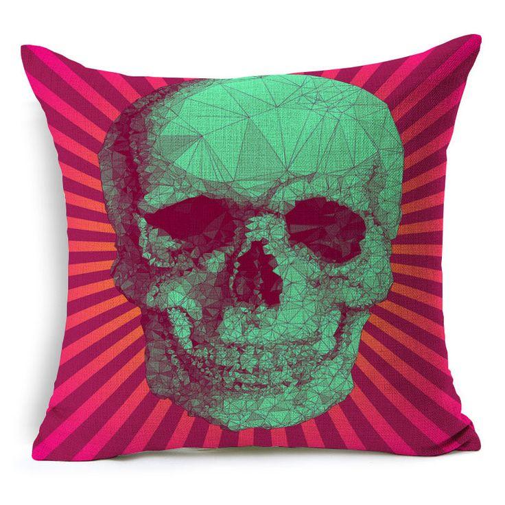 Dia das bruxas do crânio do açúcar mexicano almofada (No interior) decorativo sofá jogar travesseiro decoração da sua casa em Almofada de Home & Garden no AliExpress.com   Alibaba Group